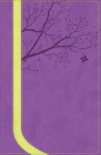 NKJV God Girl Bible, Pretty Purple/Neon Green, Tree Design Duravella
